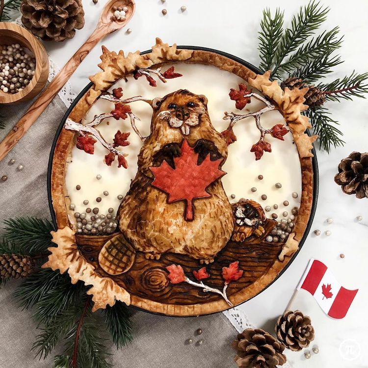 Canada Day Pie Crust Design by The Pieous
