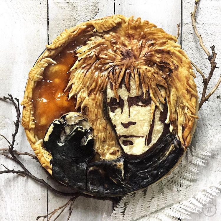 David Bowie Pie Crust Design by The Pieous