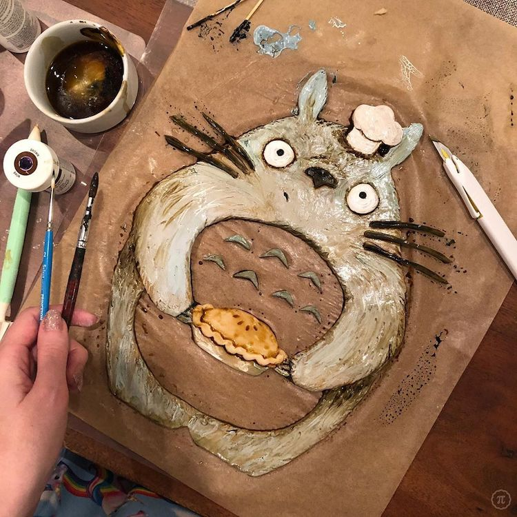 My Neighbour Totoro Pie Crust Design by The Pieous