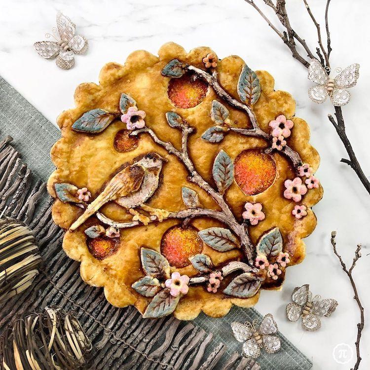 Bird Pie Crust Design by The Pieous