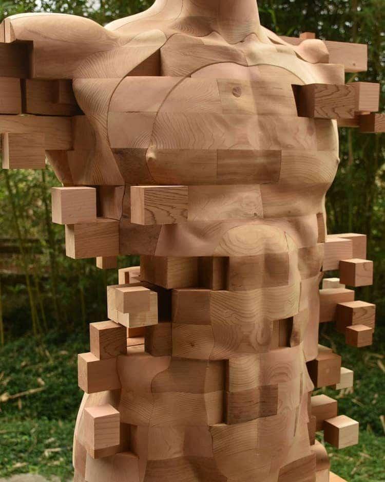 Wooden Sculpture by Han Hsu Tung