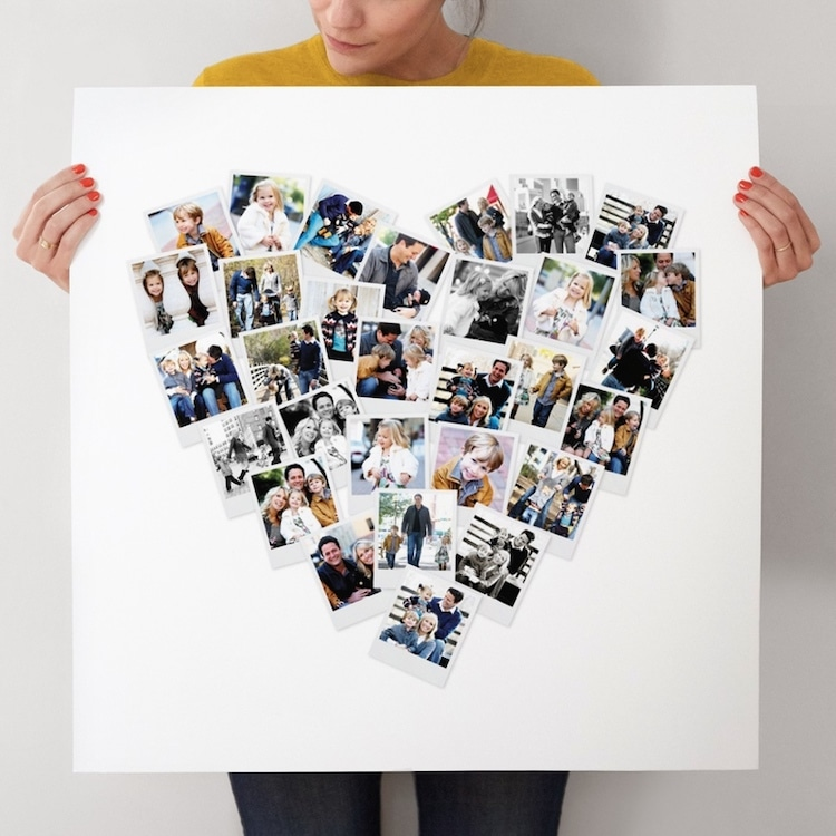 Customizable Heart Shaped Photo Collage