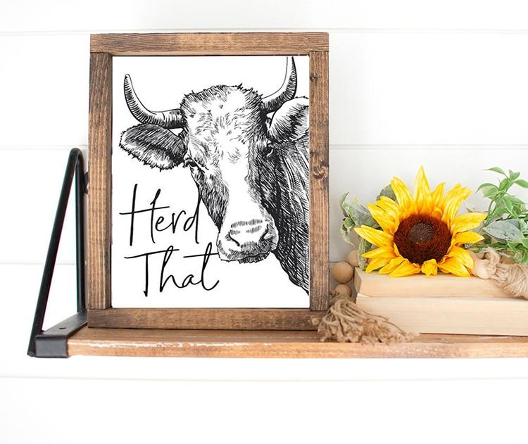 Herd That Cow Print