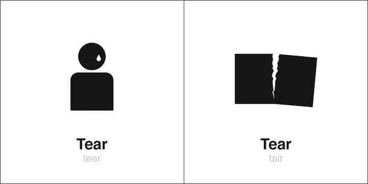 'Tear' Homographe Illustré