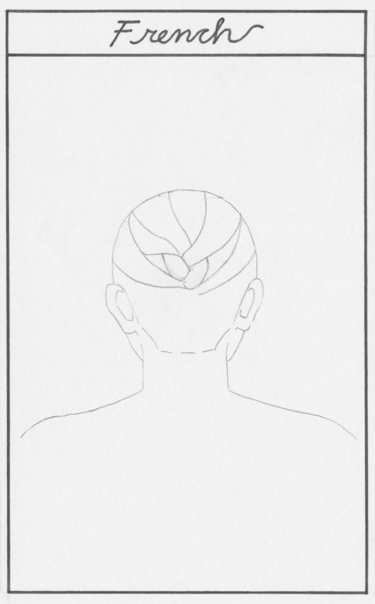 How to Draw a French Braid