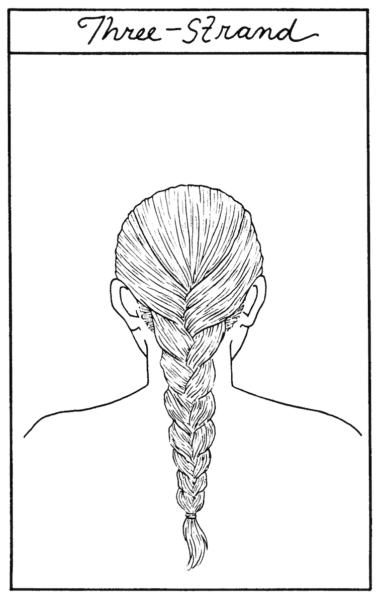 How to Draw a Three Strand Braid