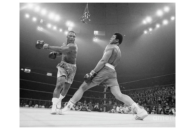 Poster of Muhammad Ali Dodging a Punch from Frazier