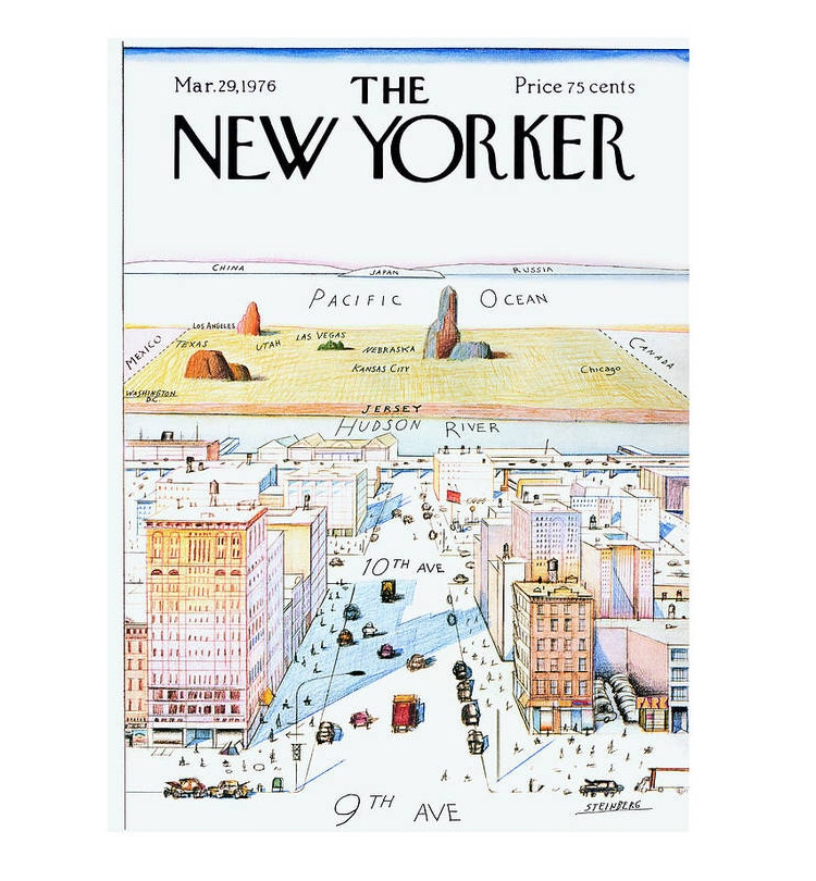 Cover of the New Yorker March 29, 1976 Poster