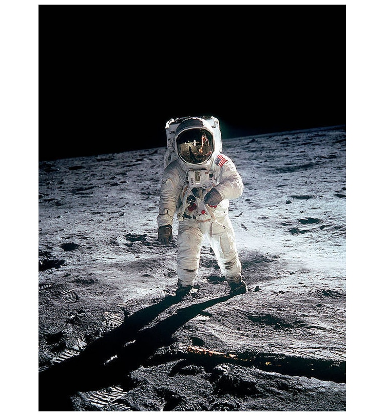 Poster of Buzz Aldrin on the Moon