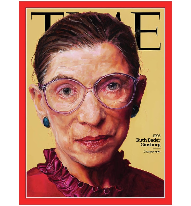 Poster of Ruth Bader Ginsberg Painting for Time Magazine