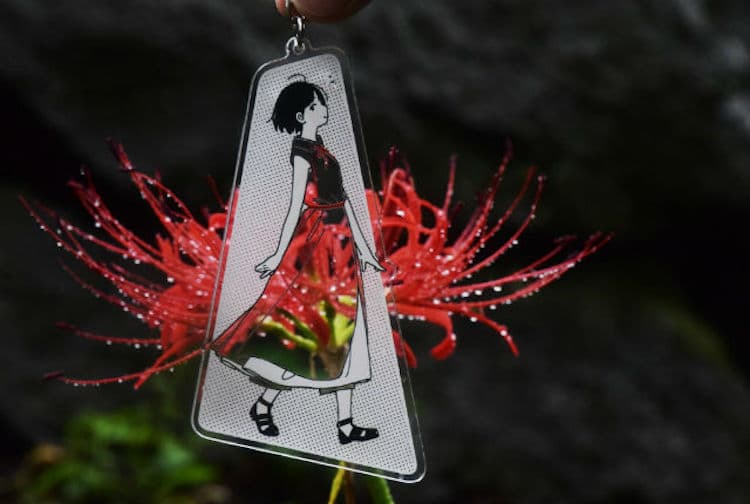 See-Through Illustrated Key Chain by Kamome Fuyuno