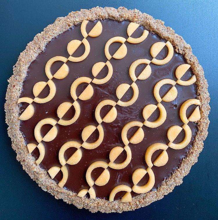 Geometric Pie Art by Lauren Ko