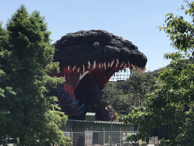 Life-Sized Godzilla at The Nijigen no Mori Theme park