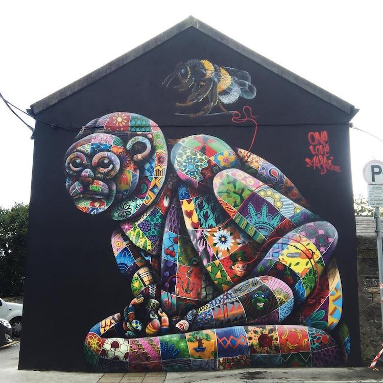 Murals by Louis Masai
