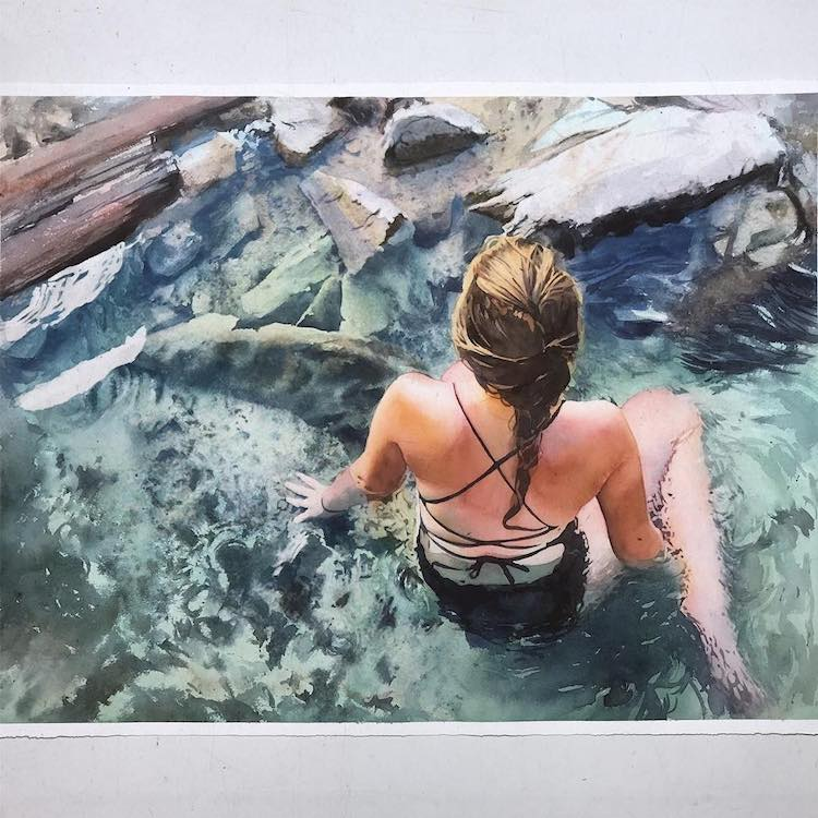 Watercolor Paintings by Marcos Beccari