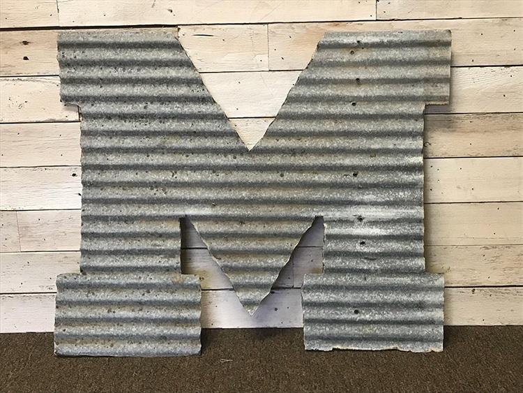Tin Metal Alphabet sign