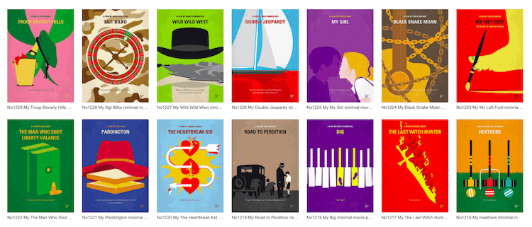 Chungkong Minimalist Movie Poster Art Prints