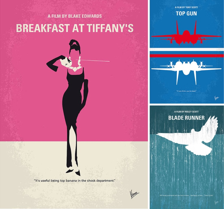 Minimalist Movie Poster Art Prints