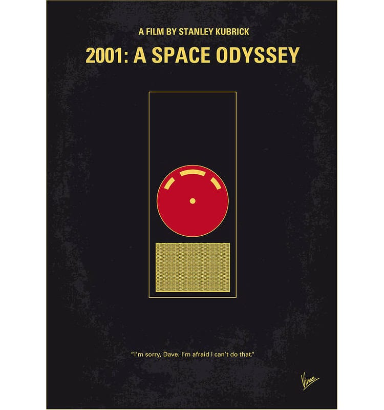 2001 Space Odyssey Minimalist Movie Poster