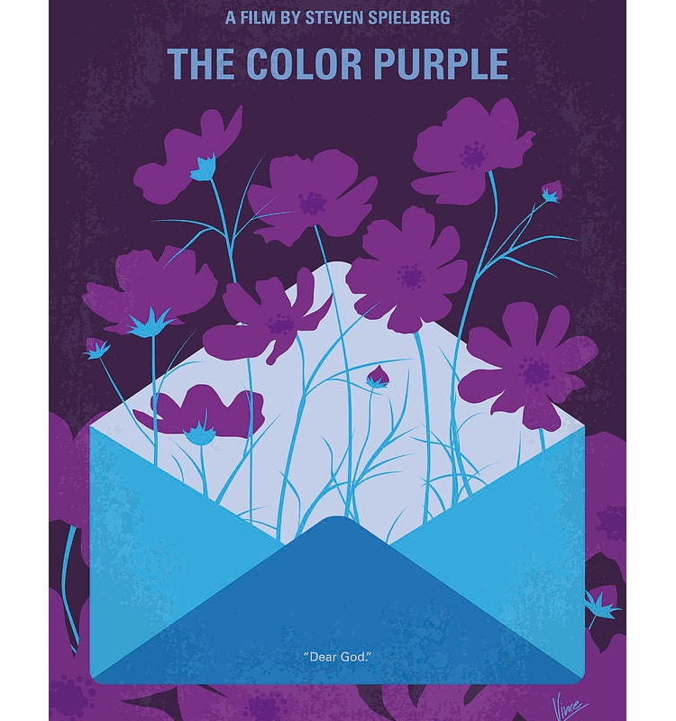 The Color Purple Minimalist Movie Poster by Chungkong