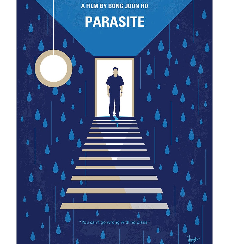 Parasite Minimalist Movie Poster by Chungkong