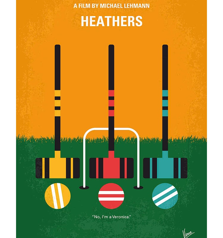 Heathers Minimalist Movie Poster by Chungkong