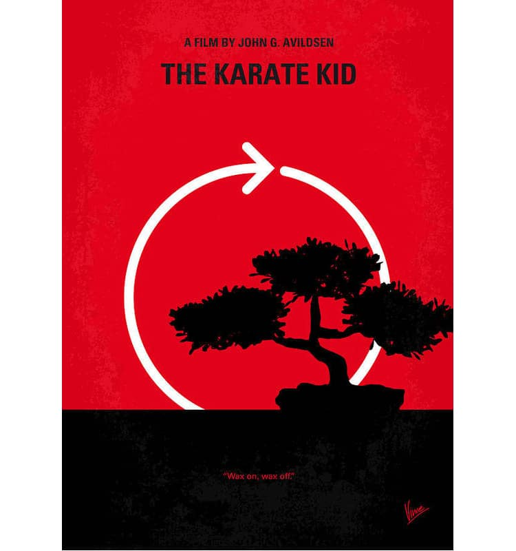 Karate Kid Minimalist Movie Poster by Chungkong