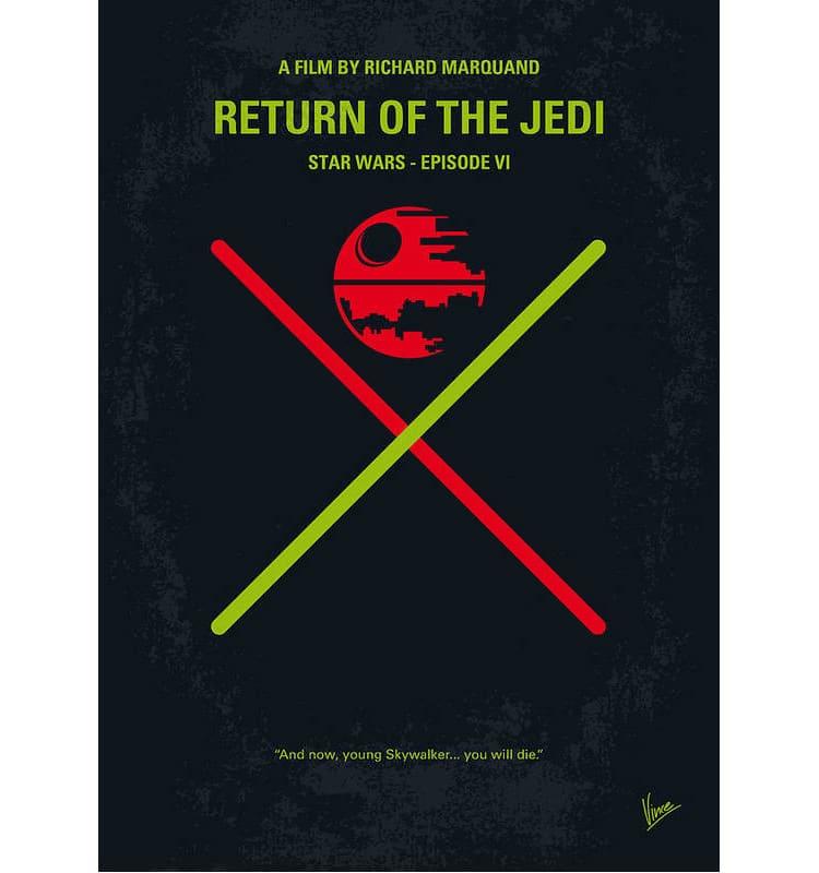 Star Wars Minimalist Movie Poster Art Print