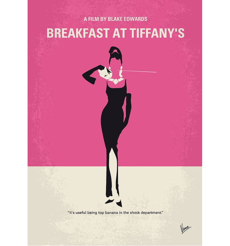 Breakfast at Tiffany's Modern Movie Poster