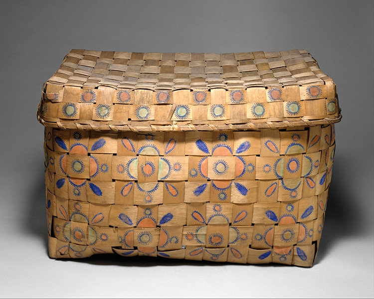 Oneida Plaited Splint Woven Basket