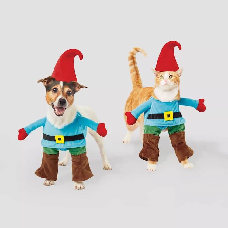 Disfraz de gnomo para perros y gatos
