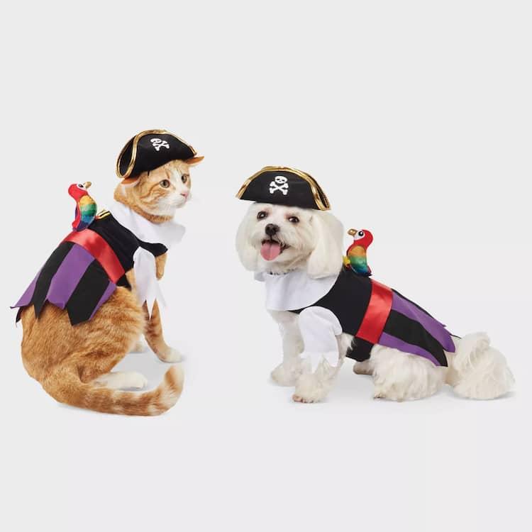 Disfraz de Halloween de pirata para mascotas