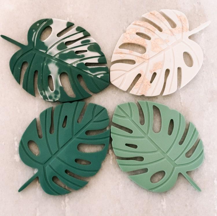 Resin Leaf Coasters