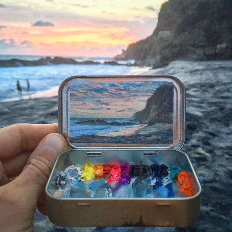 Tiny Oil Paintings by Remington Robinson