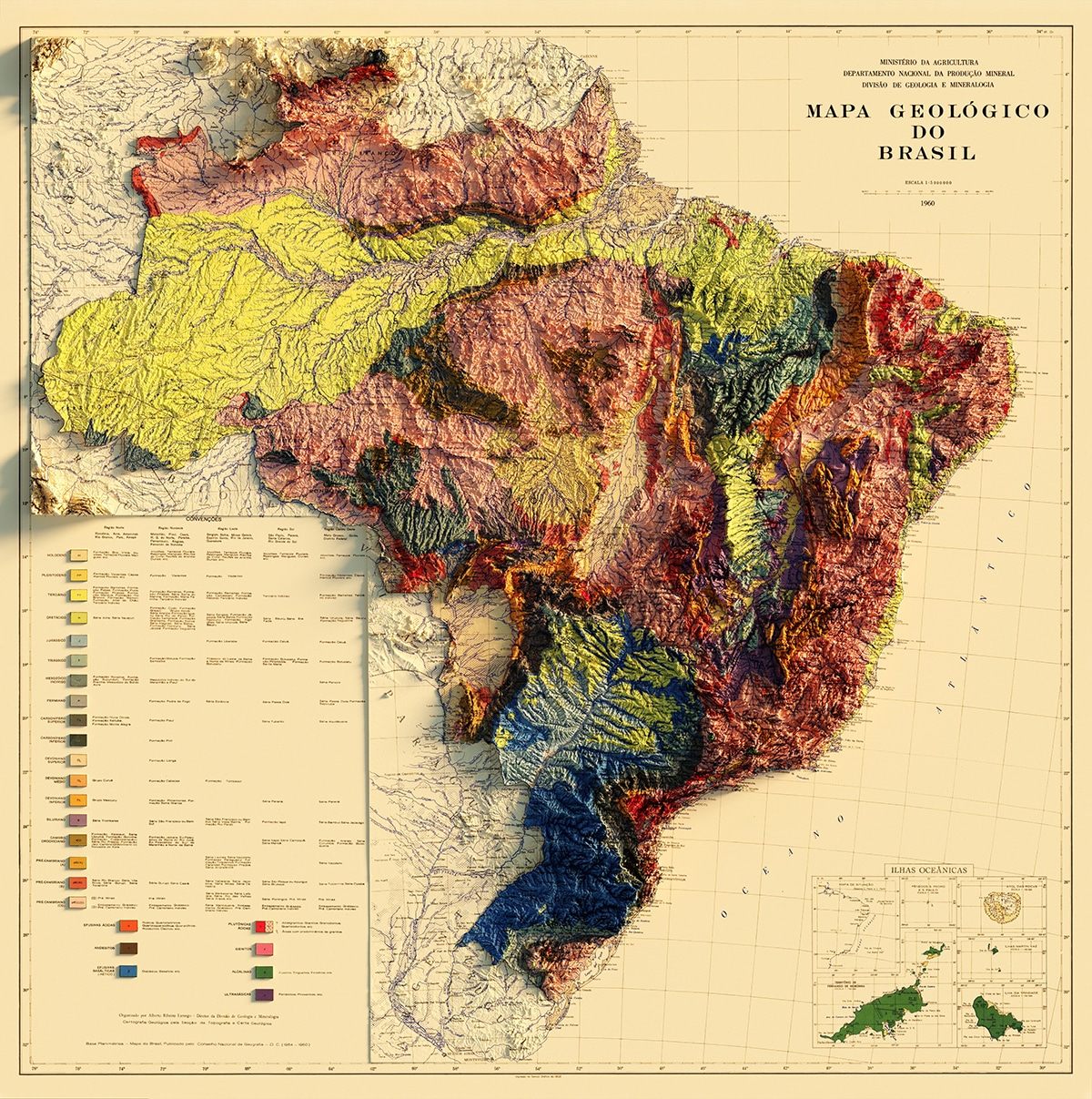 Brasil Sean Conway Map Elevation