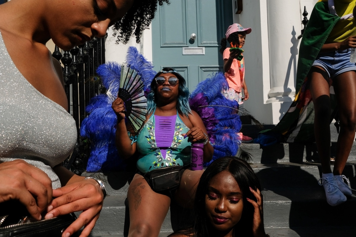 Candid Photo of Revellers at London's Notting Hill Carinival