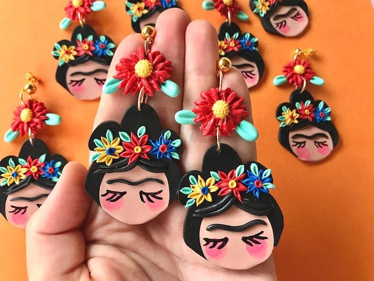 Frida Kahlo Polymer Clay Earrings