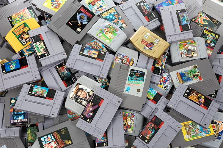 Super Mario Cart And Vintage Video Games