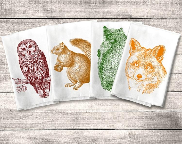 Wildlife Dish Towels