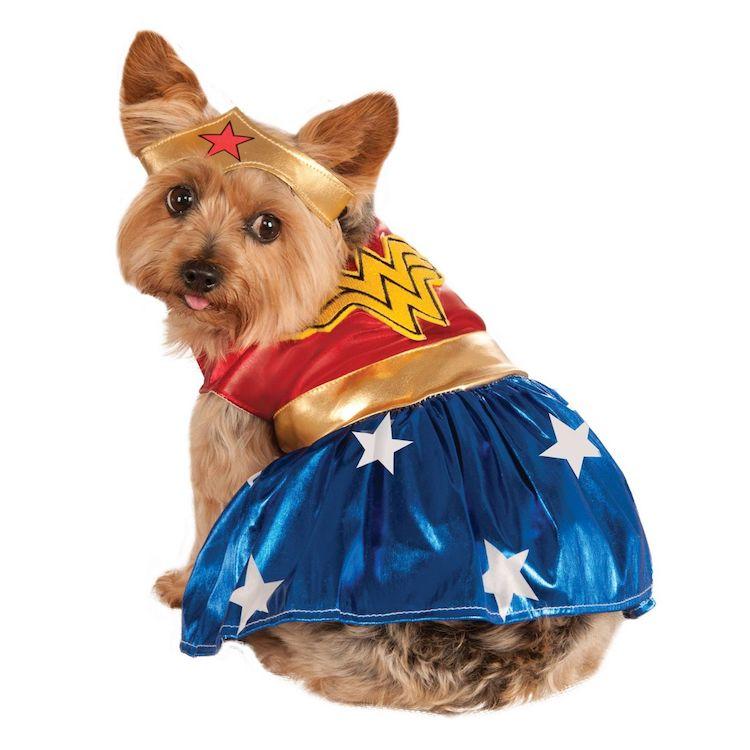 Disfraz para perro de la Mujer Maravilla