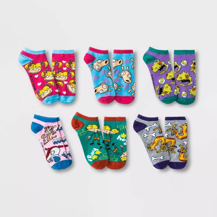 90s Nickelodeon Cartoon Socks
