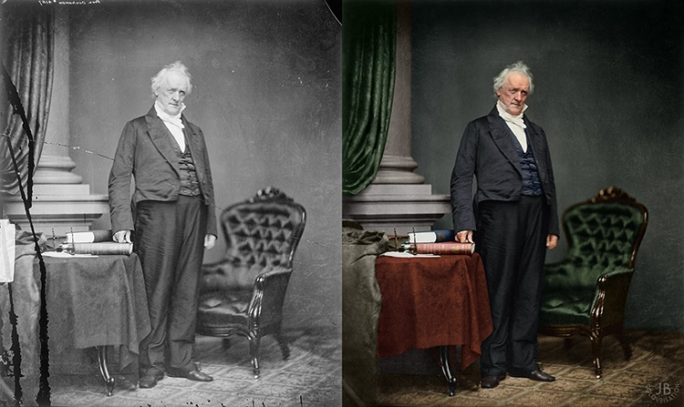 James Buchanan Restored Colorized Portrait