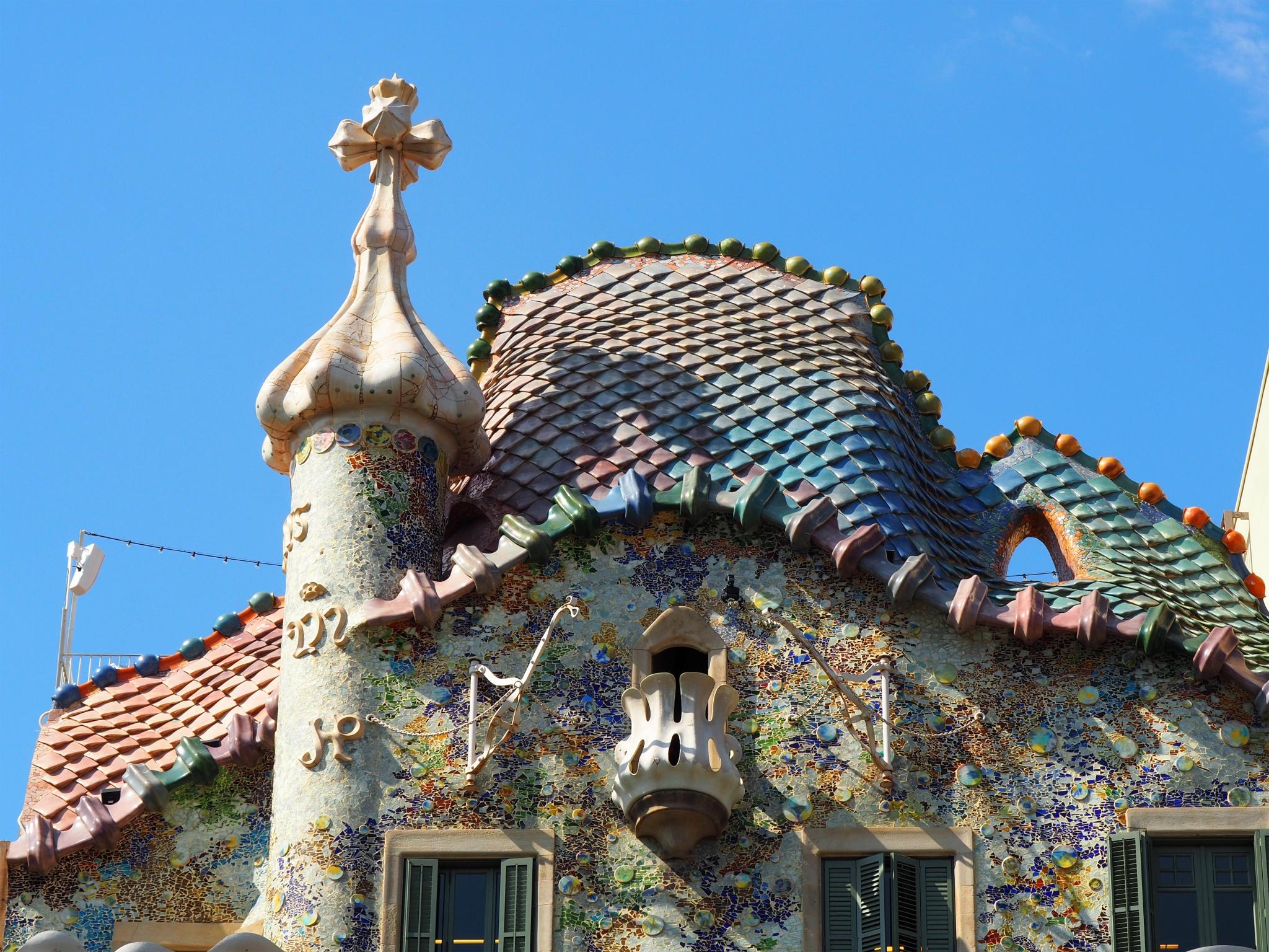 Techo de la Casa Batlló de Gaudí