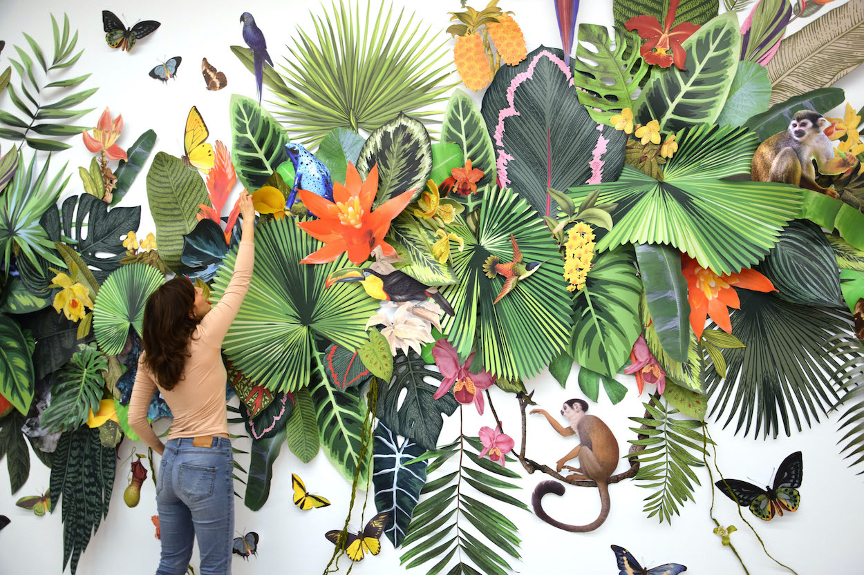 Clare Borsch Collaged Installation Art