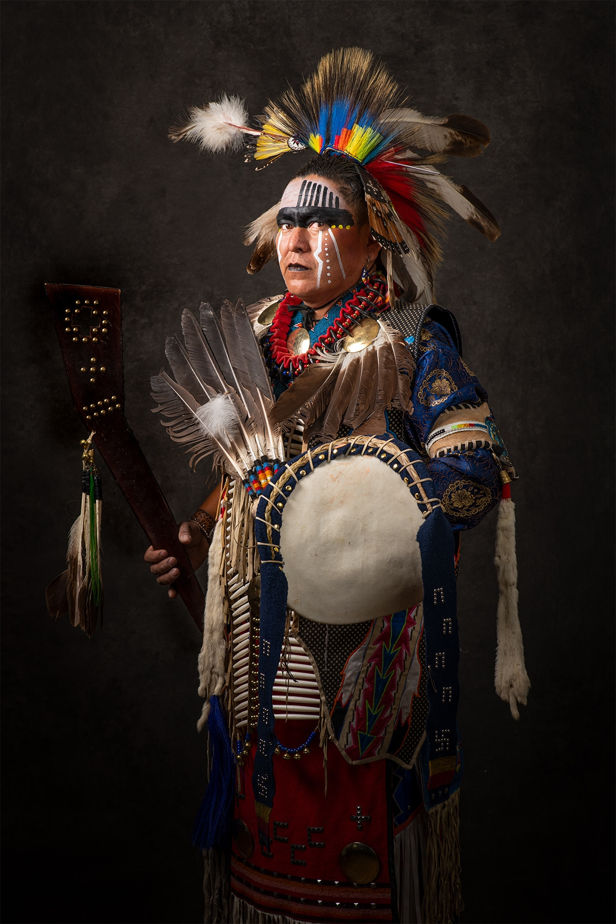 Portrait of Indigenous Woman from New Mexico by Craig Varjabedian