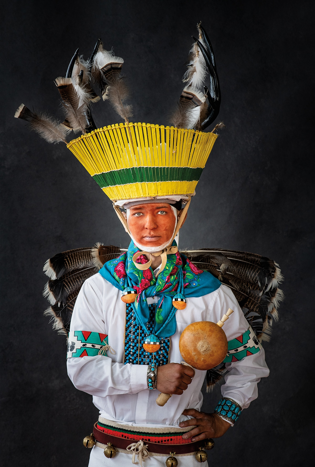 Native American Portrait by Craig Varjabedian