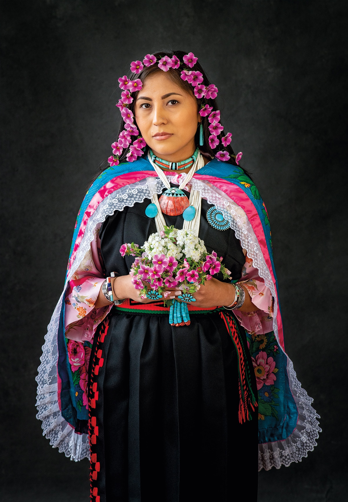 Indigenous Woman in Traditional Dress