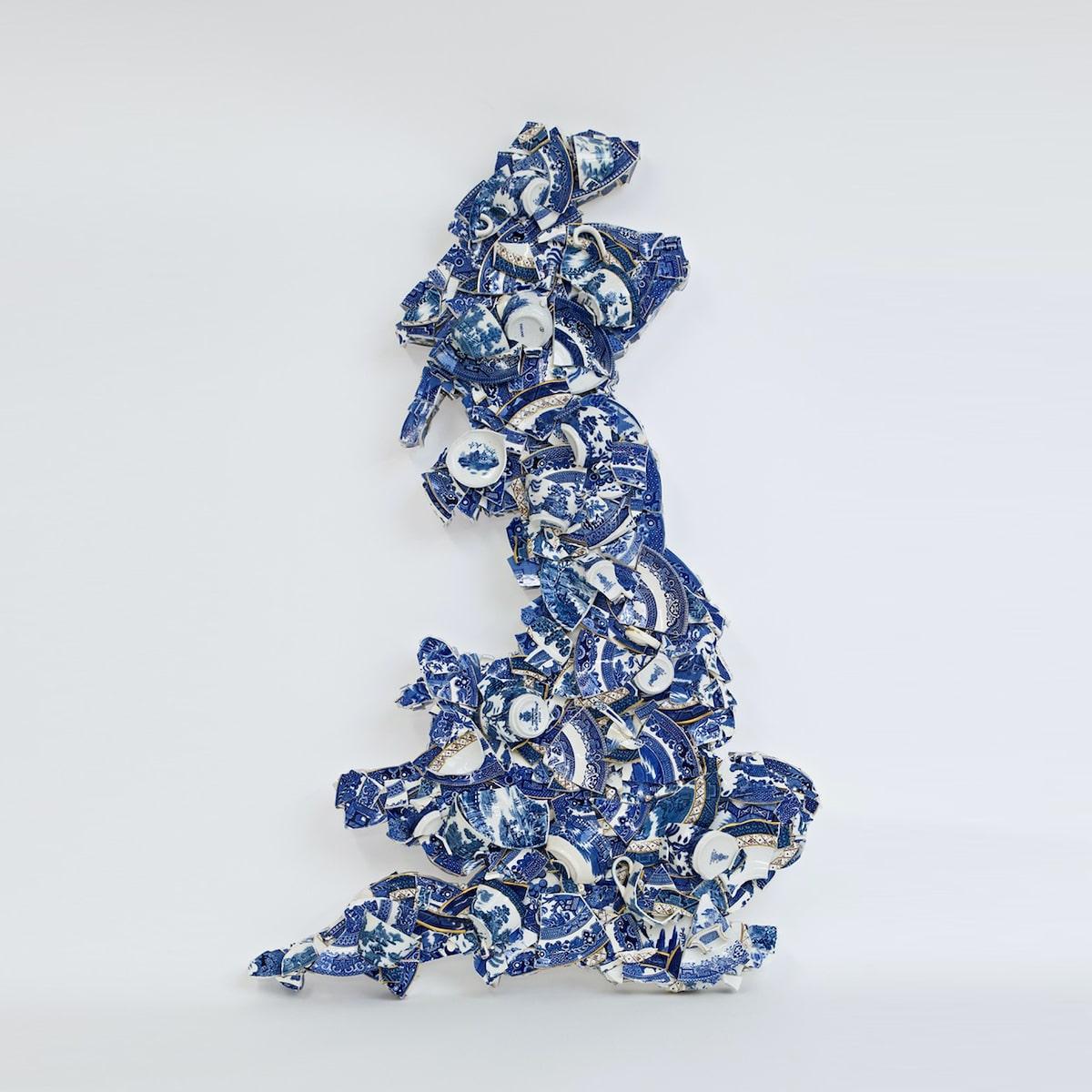 Bouke de Vries Homeland Britain II Fragmented Earthenware Sculpture