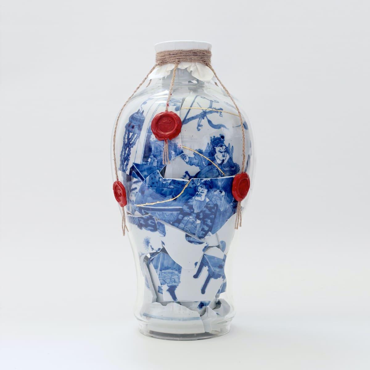 Bouke de Vries Memory Vessel LXVII Fragmented Qing Dynasty Porcelain Sculpture