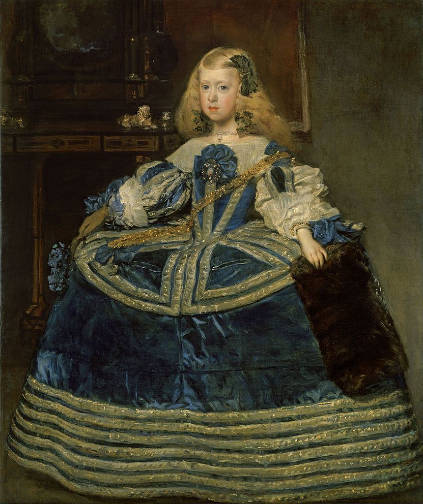 La infanta Margarita Teresa con vestido azul